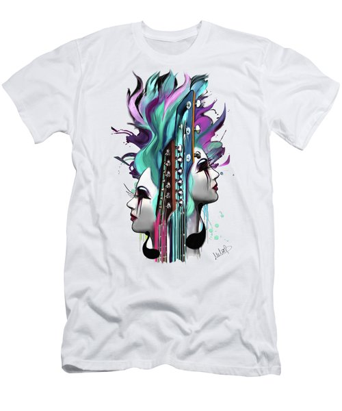 Gemini Men's T-Shirt (Slim Fit) by Melanie D