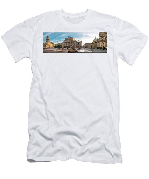 Gendarmenmarkt Platz / Berlin Men's T-Shirt (Slim Fit) by Stavros Argyropoulos