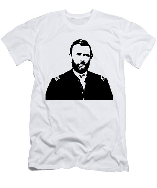 General Grant Black And White  Men's T-Shirt (Athletic Fit)