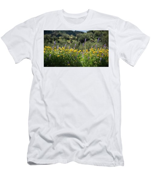 Men's T-Shirt (Slim Fit) featuring the photograph Gently Swaying In The Wind  by Saija Lehtonen