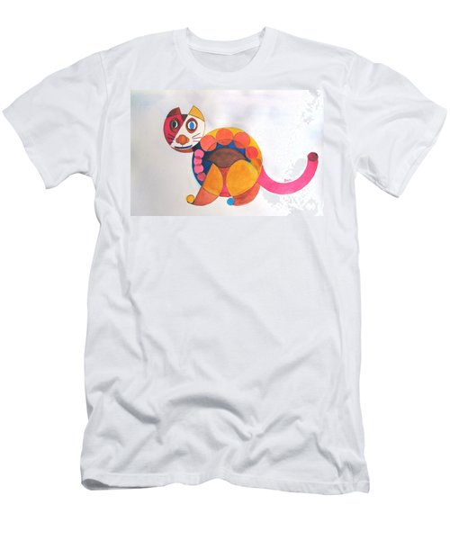 Geometric Cat Men's T-Shirt (Athletic Fit)