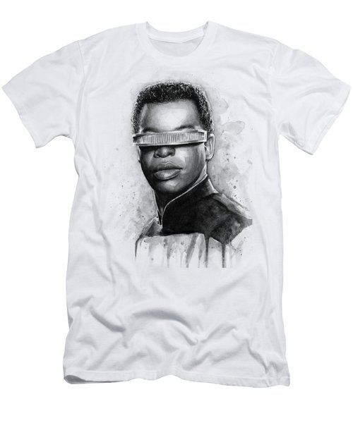 Geordi La Forge - Star Trek Art Men's T-Shirt (Slim Fit) by Olga Shvartsur