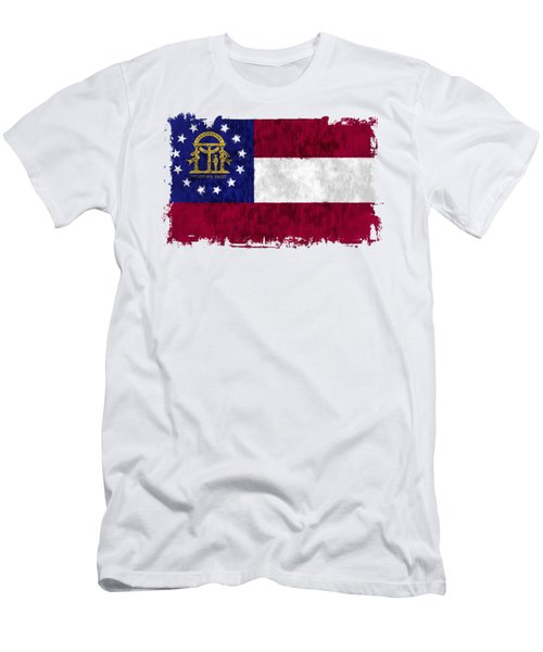 Georgia Flag Men's T-Shirt (Athletic Fit)