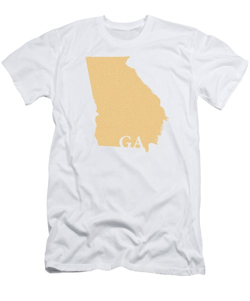 Georgia State Map With Text Of Constitution Men's T-Shirt (Athletic Fit)