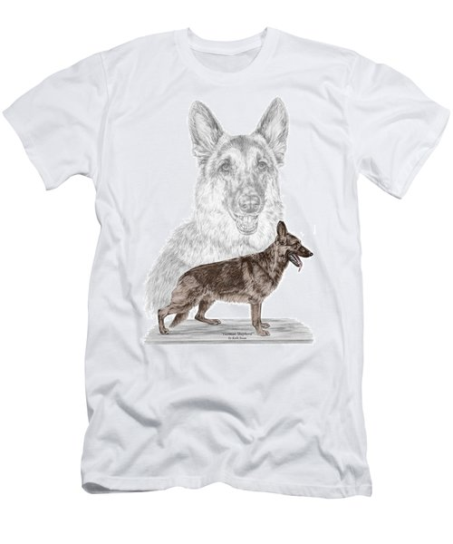 German Shepherd Art Print - Color Tinted Men's T-Shirt (Athletic Fit)
