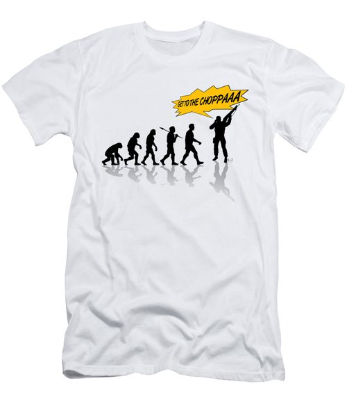 Get To The Choppa Men's T-Shirt (Athletic Fit)