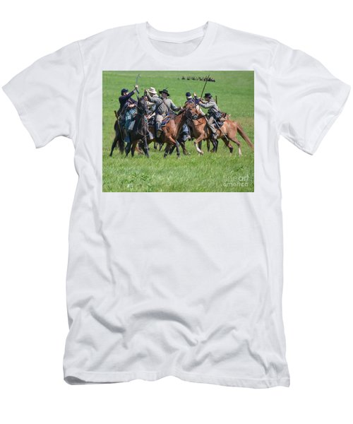 Gettysburg Cavalry Battle 7948c  Men's T-Shirt (Athletic Fit)