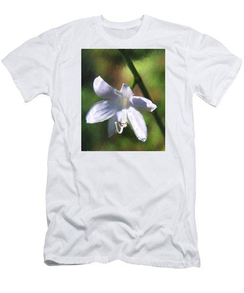 Men's T-Shirt (Slim Fit) featuring the photograph Ghost Flower by Susan Crossman Buscho