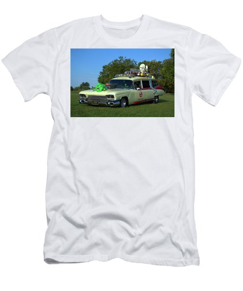 1959 Cadillac Ghostbusters Ambulance Replica Men's T-Shirt (Athletic Fit)
