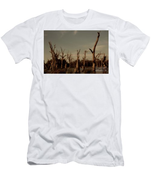 Ghostly Trees Men's T-Shirt (Slim Fit) by Douglas Barnard