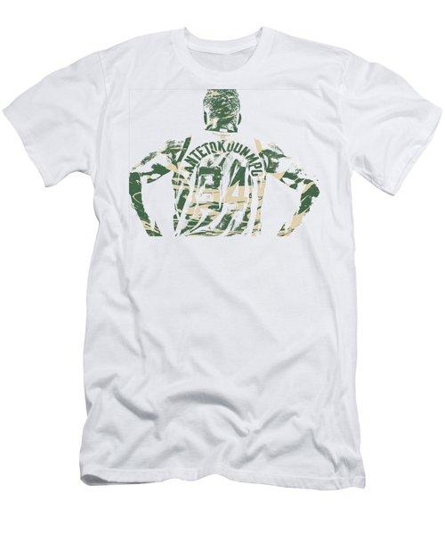 Giannis Antetokounmpo Milwaukee Bucks Pixel Art 22 Men's T-Shirt (Athletic Fit)
