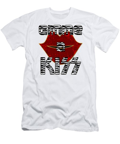 Gimme A Kiss Men's T-Shirt (Athletic Fit)