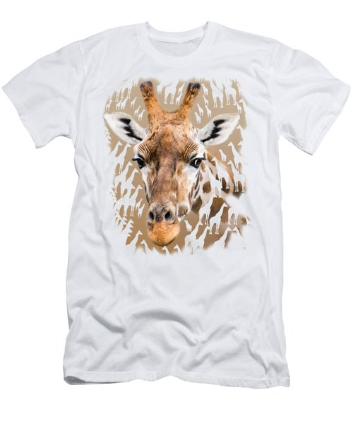 Giraffe Clothing And Wall Art Men's T-Shirt (Slim Fit) by Linsey Williams