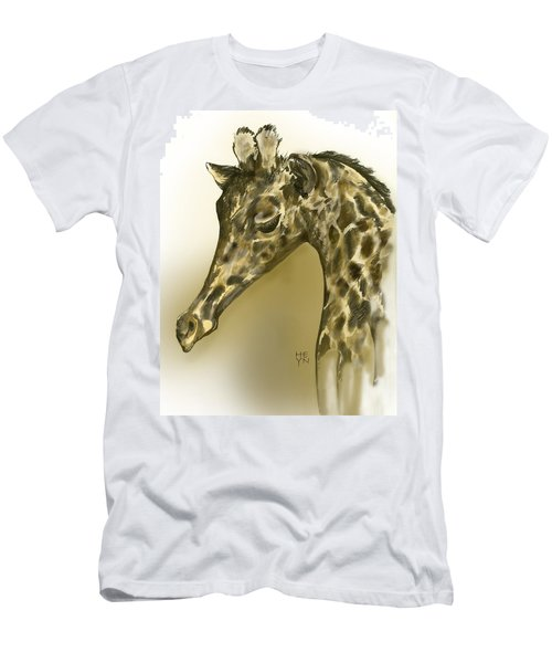 Giraffe Contemplation Men's T-Shirt (Athletic Fit)
