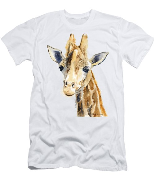 Giraffe Watercolor Men's T-Shirt (Slim Fit) by Melly Terpening