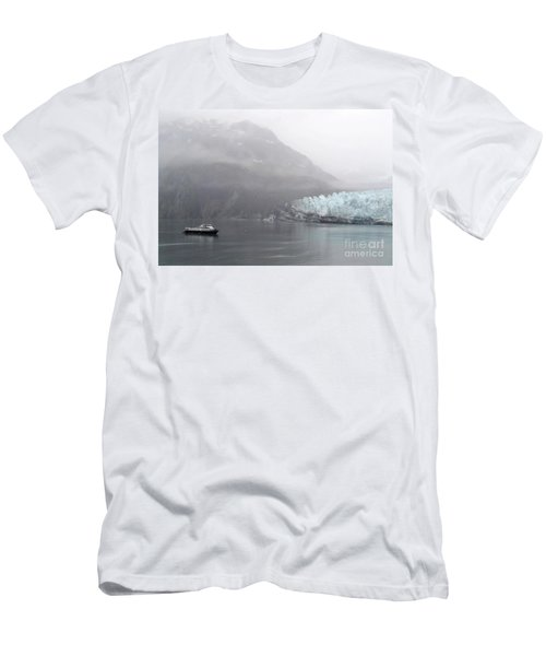 Glacier Ride Men's T-Shirt (Slim Fit) by Zawhaus Photography
