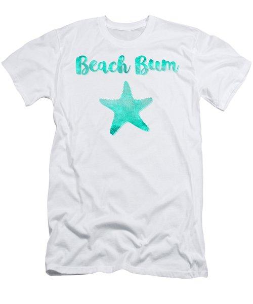 Glam Beach Bum Nautical Coastal Art Men's T-Shirt (Athletic Fit)