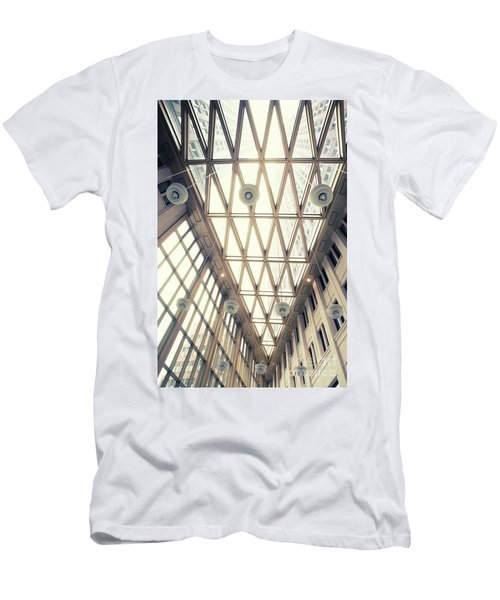 glass ceiling in hall of  new State office  Men's T-Shirt (Athletic Fit)