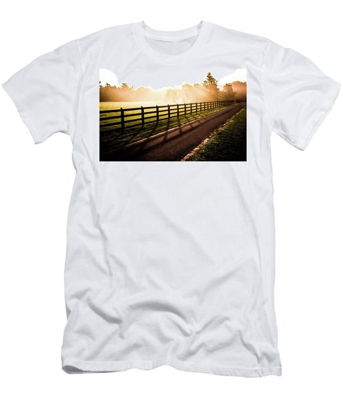 Men's T-Shirt (Slim Fit) featuring the photograph Glowing Fog At Sunrise by Shelby Young