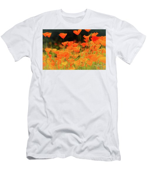 Glowing Poppies Men's T-Shirt (Athletic Fit)