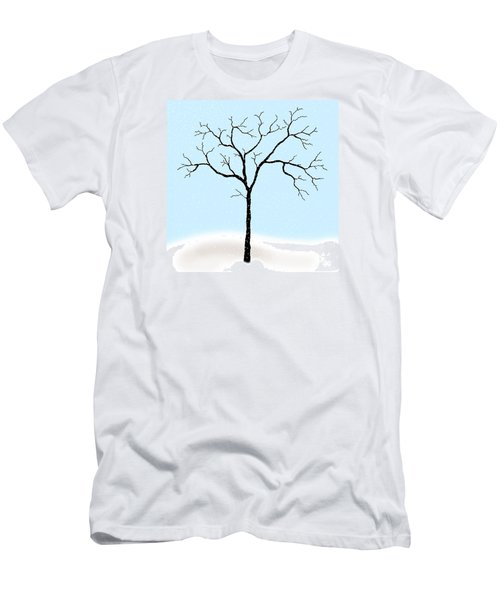 Gnarled In Winter Men's T-Shirt (Slim Fit) by Alycia Christine