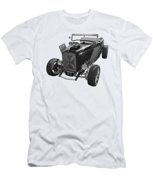 Go Hot Rod In Black And White Men's T-Shirt (Athletic Fit)