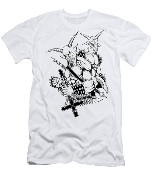 Goatlord And Baphomet Men's T-Shirt (Athletic Fit)