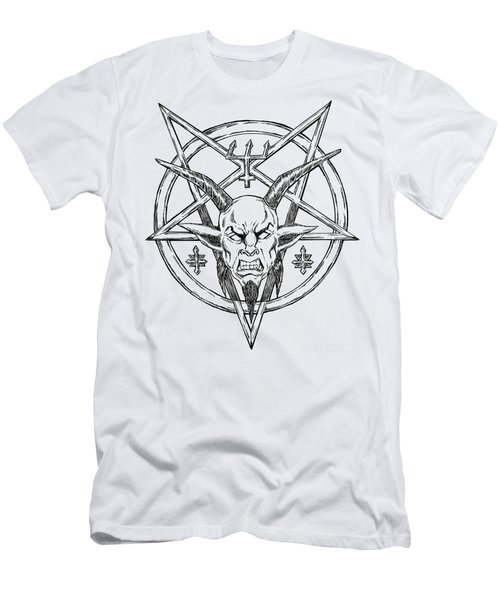 Goatlord Logo Men's T-Shirt (Slim Fit) by Alaric Barca