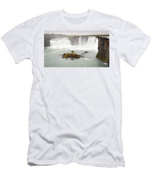 Godafoss Men's T-Shirt (Slim Fit) by Joe Bonita
