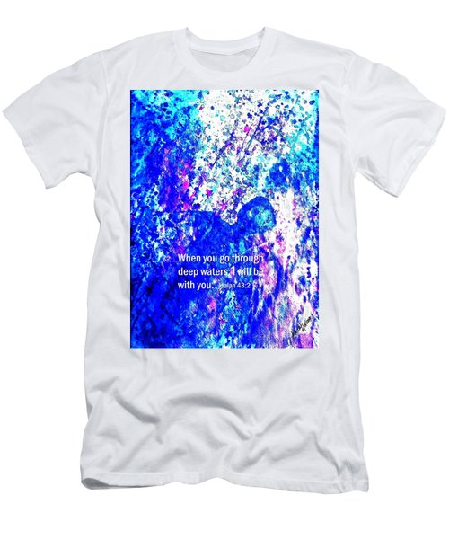 Men's T-Shirt (Slim Fit) featuring the painting Going Through Deep Waters by Hazel Holland