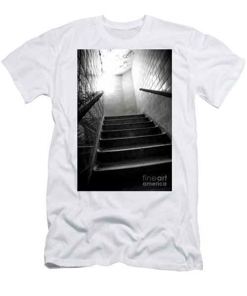 Going Up? Men's T-Shirt (Slim Fit) by Randall Cogle