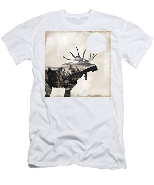 Going Wild Moose Men's T-Shirt (Athletic Fit)