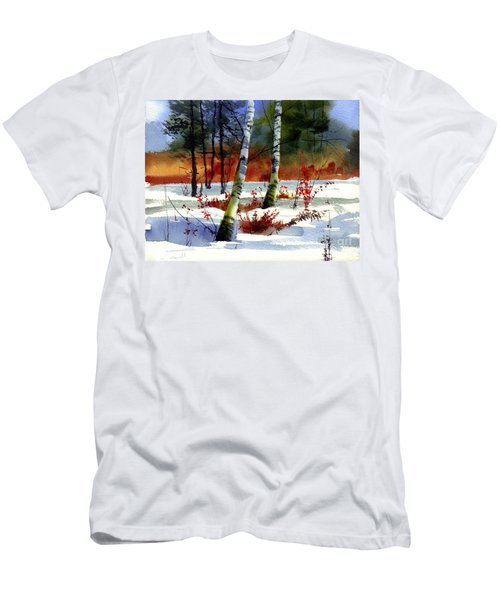 Gold Bushes Watercolor Men's T-Shirt (Athletic Fit)
