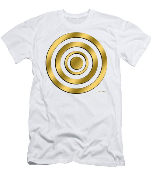 Gold Circles Men's T-Shirt (Athletic Fit)