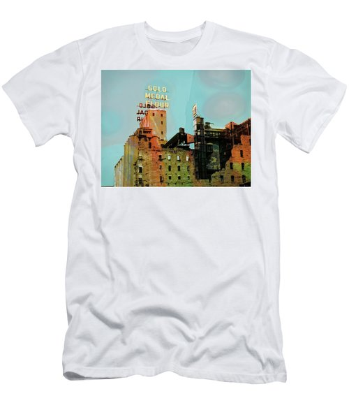 Men's T-Shirt (Slim Fit) featuring the photograph Gold Medal Flour Pop Art by Susan Stone