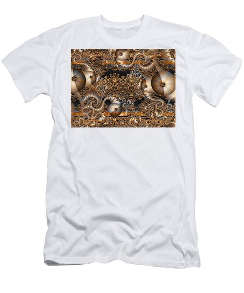 Men's T-Shirt (Slim Fit) featuring the digital art Gold Rush by Robert Orinski