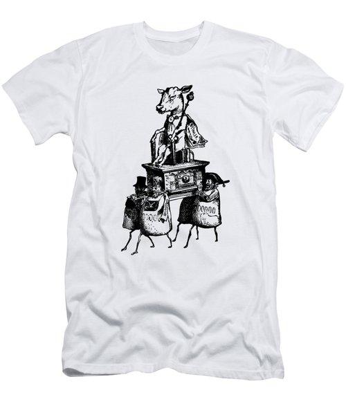 Golden Calf Grandville Transparent Men's T-Shirt (Athletic Fit)