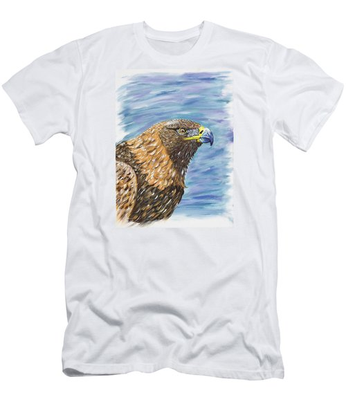Men's T-Shirt (Slim Fit) featuring the painting Golden Eagle by Scott Wilmot
