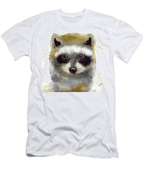 Golden Forest Raccoon  Men's T-Shirt (Athletic Fit)