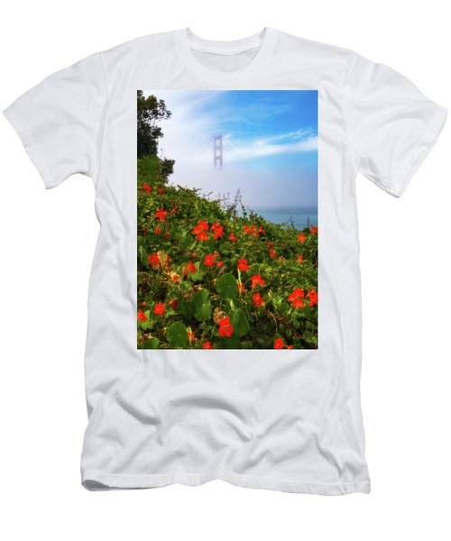 Men's T-Shirt (Athletic Fit) featuring the photograph Golden Gate Blooms by Darren White