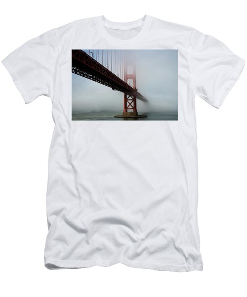 Men's T-Shirt (Athletic Fit) featuring the photograph Golden Gate Bridge Fog 2 by Stephen Holst
