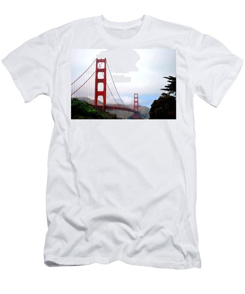 Golden Gate Bridge Full View Men's T-Shirt (Slim Fit) by Matt Harang