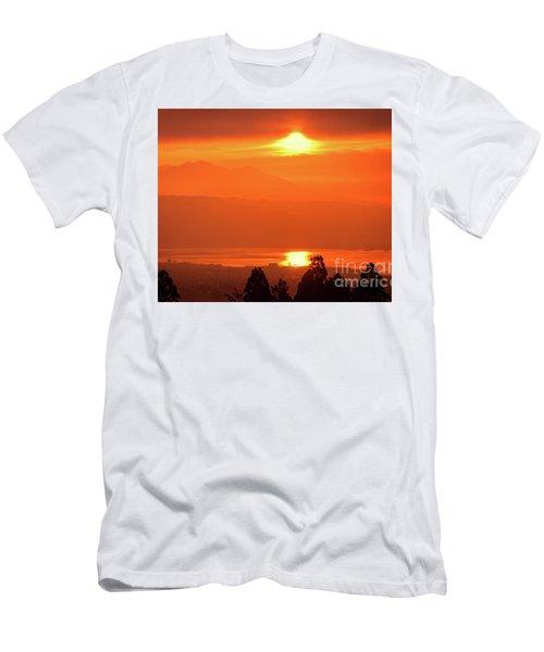 Men's T-Shirt (Slim Fit) featuring the photograph Golden Hour by Tatsuya Atarashi
