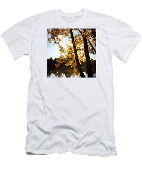 Golden Trees In Autumn Sindelfingen Germany Men's T-Shirt (Athletic Fit)