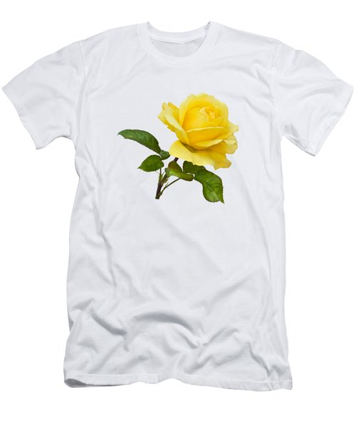 Golden Yellow Rose Men's T-Shirt (Slim Fit) by Jane McIlroy