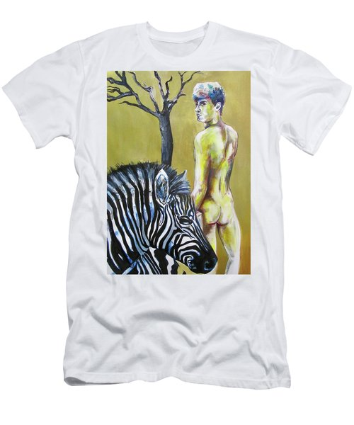 Golden Zebra High Noon Men's T-Shirt (Athletic Fit)