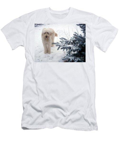 Goldendoodle Men's T-Shirt (Slim Fit) by Andrea Kollo