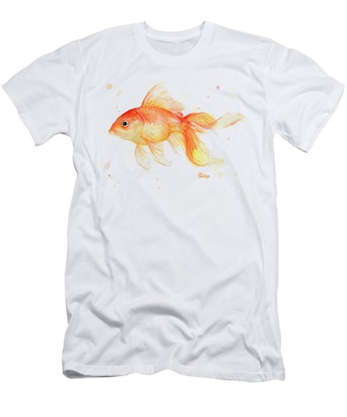 Goldfish Painting Watercolor Men's T-Shirt (Athletic Fit)