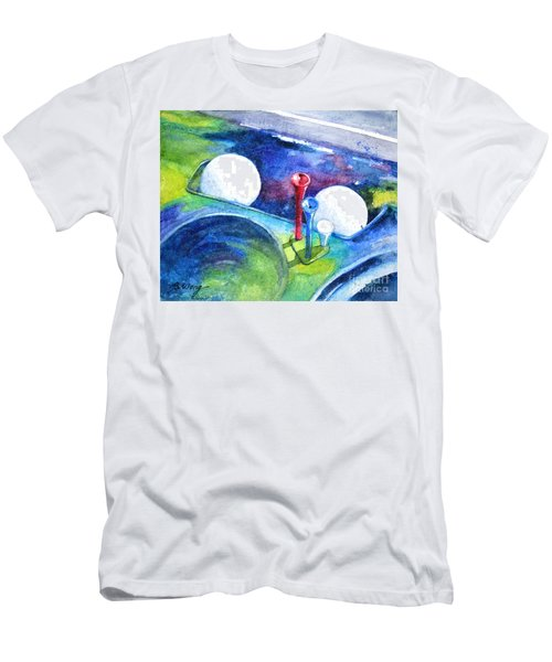 Golf Series - Back Safely Men's T-Shirt (Slim Fit) by Betty M M Wong