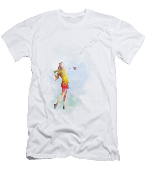 Golfer Men's T-Shirt (Slim Fit) by Marlene Watson